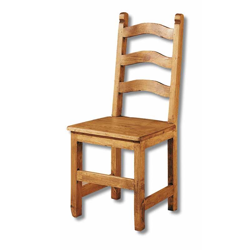 Silla de madera maciza estilo mejicano el tavolino alfafar for Sillas de madera comodas