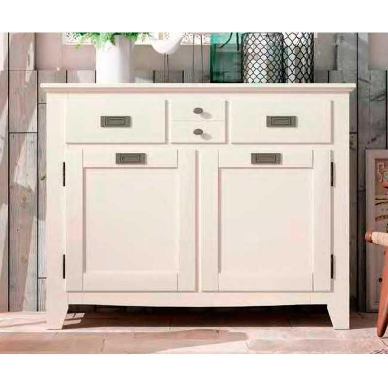 Aparador Mesa Retratil ~ Mueble Aparador de estilo colonial blanco El Tavolino Alfafar