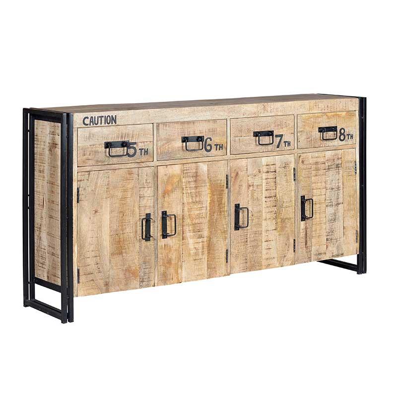 Aparador de estilo industrial madera hierro el tavolino for Tiradores estilo industrial