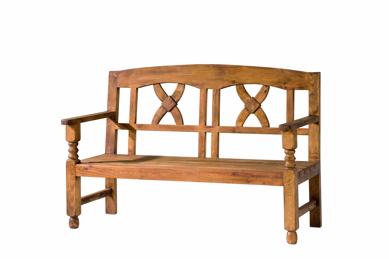 Banco r stico de madera maciza el tavolino alfafar - Bancos de madera rusticos ...