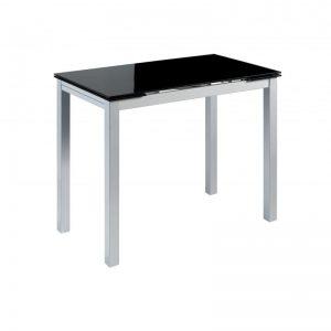 mesa cocina extensible, estilo moderno, cristal negro. El Tavolino