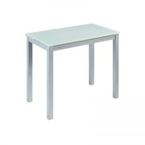 mesa barra alta cocina, de estilo moderno, acabada en metal y cristal. El Tavolino