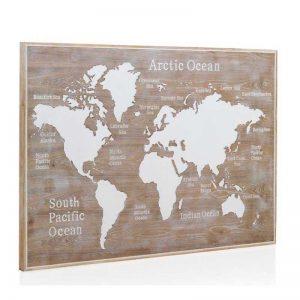 cabezal panel mapa mundi con relieve estilo nórdico el tavolino