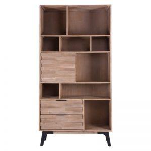 estantería librero modelo ámsterdam, estilo industrial, madera maciza de acacia. El Tavolino