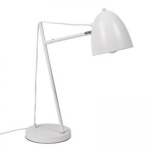 lámpara de sobremesa modelo tossal, forma de flexo, lacado blanco. El Tavolino