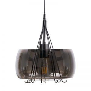 lámpara de techo estilo moderno cristal café brillo. Ilumunación El Tavolino