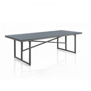 Mesa de comedor fija de 180x100. Colección Cube. Mobiliario de exterior El Tavolino