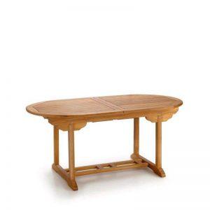 mesa para jardín madera de teca ovalada, extensible. El Tavolino