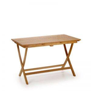 mesa de teca para exterior plegable. El Tavolino