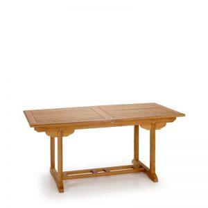 mesa para exterior, fabricada con madera de teca, extensible. El Tavolino