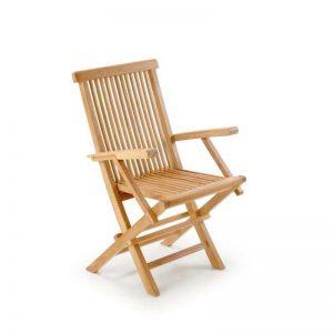 silla con brazos madera de teca, ideal para exterior. El Tavolino
