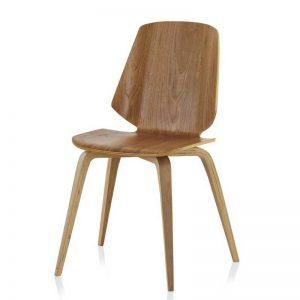 Silla de estilo nórdico, madera de roble color natural. El Tavolino