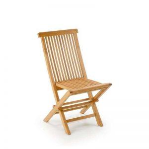 silla de teca para exterior, ligera y plegable. El Tavolino