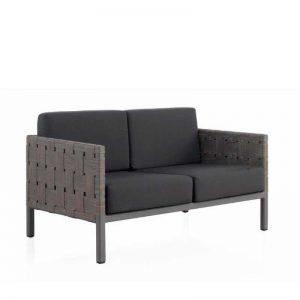 Sofá de 2 plazas modelo Cube. Mobiliario de exterior. Fibra sintética alta calidad. El Tavolino