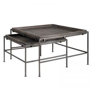 Set 2 mesas centro modelo Kabil. Estilo industrial. El Tavolino