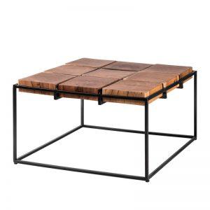 Mesa centro cuadrada. Modelo Fakid, madera maciza de acacia. El Tavolino
