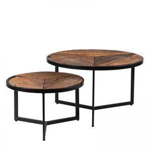 Set 2 mesas centro de madera reciclada. El Tavolino