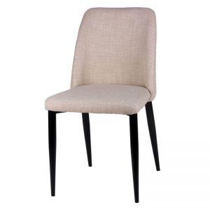 Silla modelo Melissa. Tapizado color beige. Muebles El Tavolino