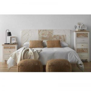 Conjunto dormitorio de matrimonio. Estilo nórdico vintage. Muebles El Tavolino