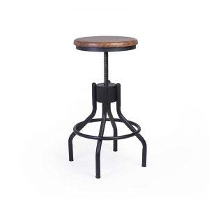 Taburete estilo industrial. Colección Pipa. Muebles El Tavolino