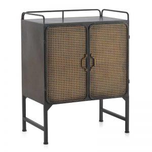 Aparador estilo industrial 2 puertas rejilla. Muebles El Tavolino
