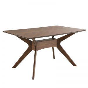Mesa comedor madera color nogal. Modelo Helga. El Tavolino